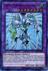 Elemental HERO Shining Flare Wingman - BLAR-EN054 - Ultra Rare - 1st Edition