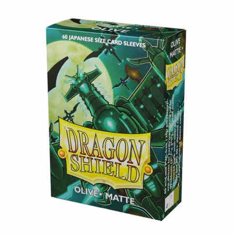 Dragon Shield Sleeves: Japanese Matte Olive (Box of 60)
