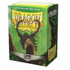 Dragon Shield - Matte Lime 100 Count Standard Sleeves