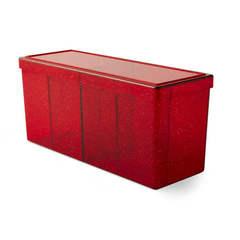 Dragon Shield: Four-Compartment Storage Box - Ruby