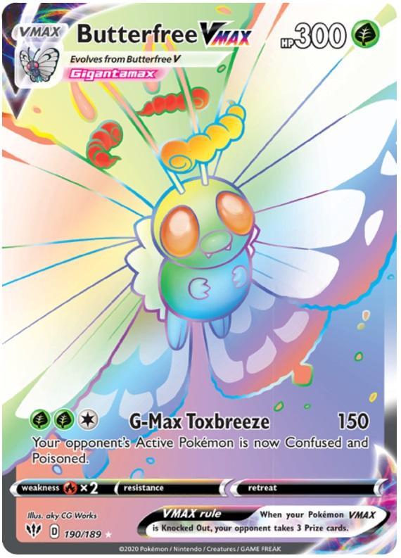 Butterfree VMAX - 190/189 - Secret Rare