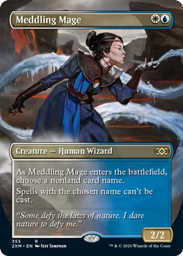 Meddling Mage - Foil - Borderless