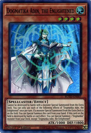 Dogmatika Adin, the Enlightened - ROTD-EN007 - Super Rare - 1st Edition