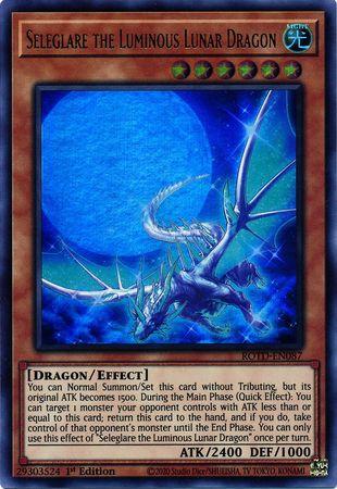Seleglare the Luminous Lunar Dragon - ROTD-EN087 - Ultra Rare - 1st Edition