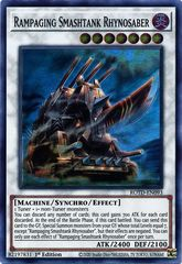 Rampaging Smashtank Rhynosaber - ROTD-EN093 - Super Rare - 1st Edition