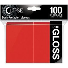 Ultra Pro - Standard Deck Protectors: Eclipse Pro-Gloss Apple Red 100 ct