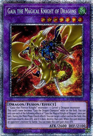 Gaia the Magical Knight of Dragons - ROTD-EN037 - Starlight Rare - 1st Edition
