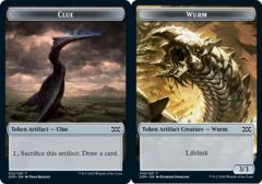 Clue Token // Wurm Token - Foil