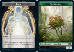 Copy Token // Saproling Token - Foil