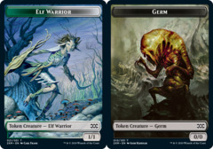 Elf Warrior Token // Germ Token - Foil