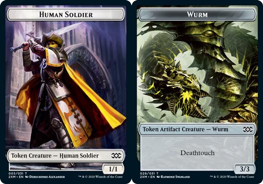 Human Soldier Token // Wurm Token (029) - Foil