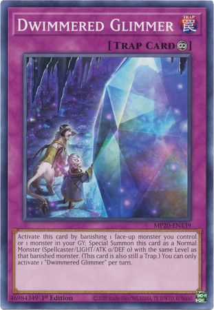 Dwimmered Glimmer - MP20-EN139 - Common - 1st Edition