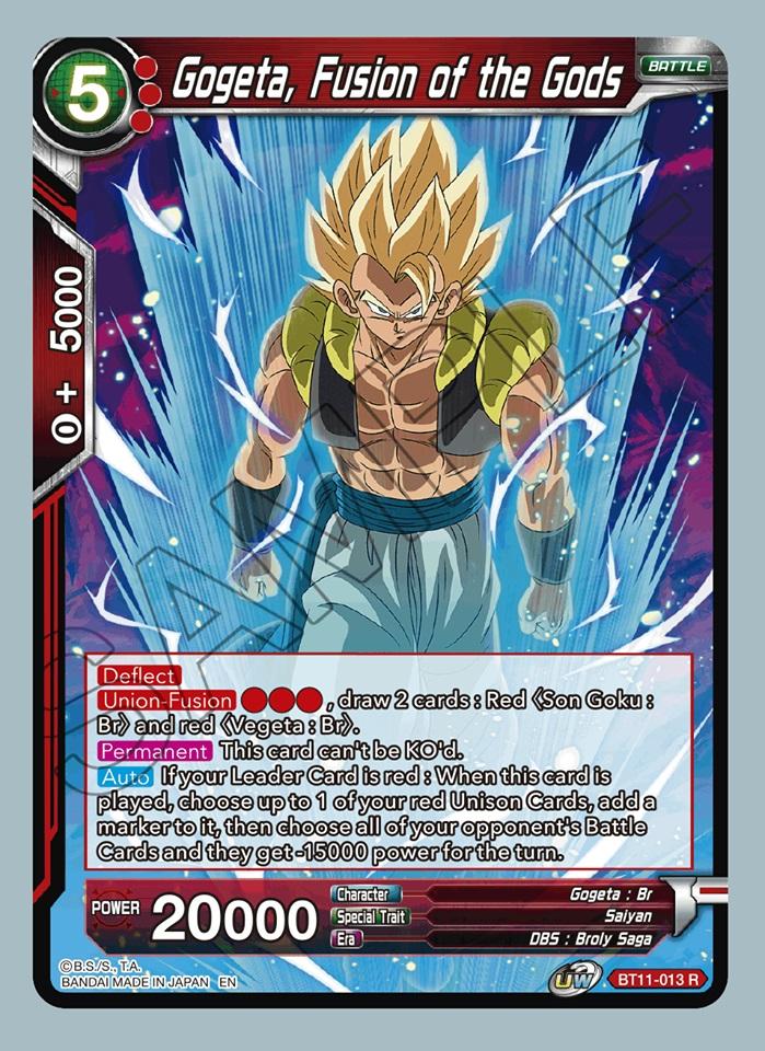 Gogeta, Fusion of the Gods - BT11-013 - R