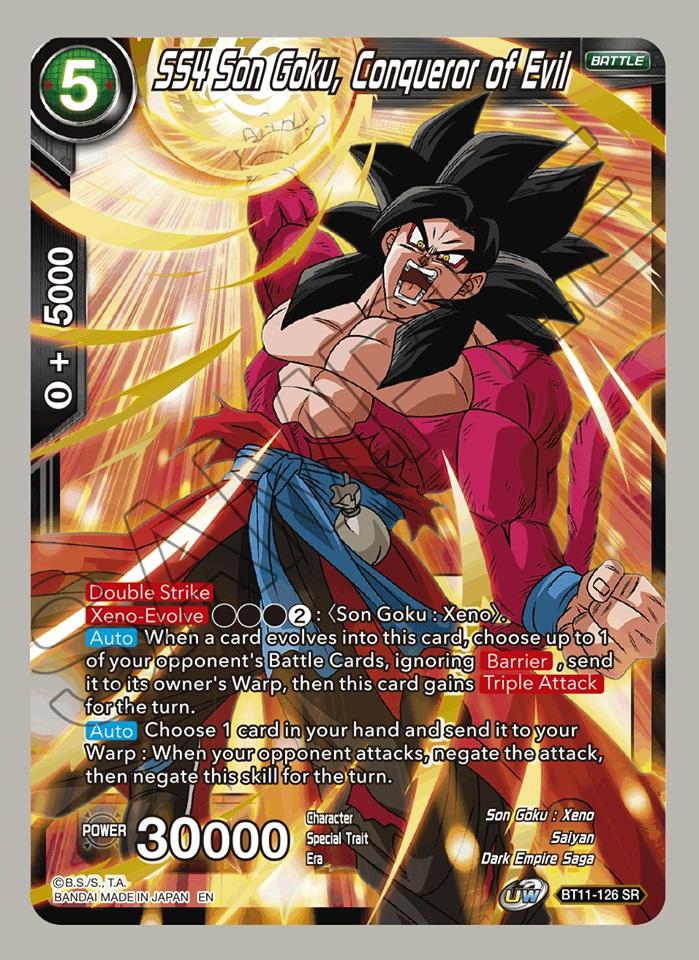 SS4 Son Goku, Conqueror of Evil - BT11-126 - SR