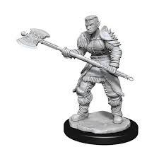 D&D Nolzurs Marvelous Miniatures - Orc Barbarian Female (Wave 13)