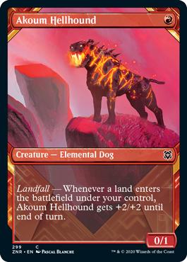 Akoum Hellhound - Foil - Showcase