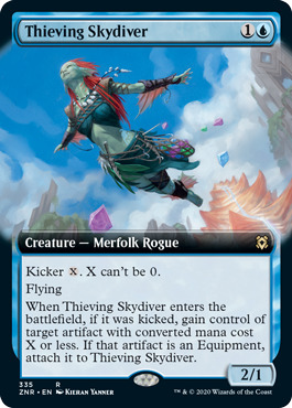 Thieving Skydiver - Extended Art