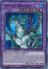 Amulet Dragon (Blue) - DLCS-EN005 - Ultra Rare - 1st Edition