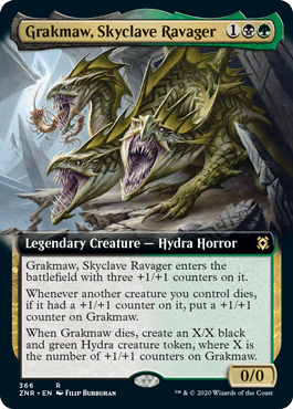 Grakmaw, Skyclave Ravager - Foil - Extended Art