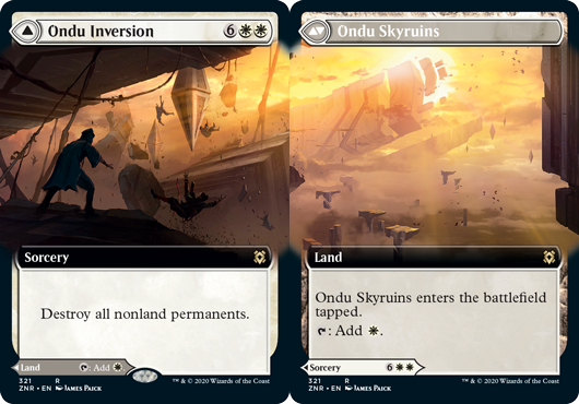 Ondu Inversion // Ondu Skyruins - Foil - Extended Art