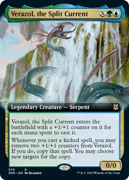 Verazol, the Split Current - Foil - Extended Art