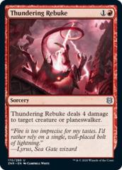 Thundering Rebuke - Foil
