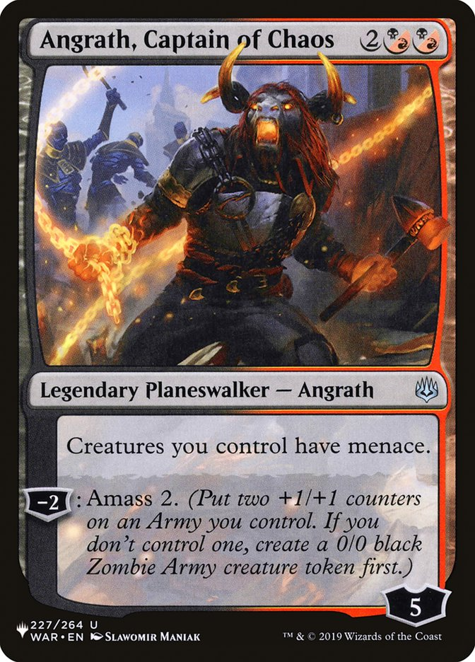 Angrath, Captain of Chaos - The List