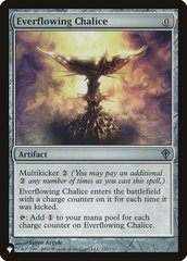 Everflowing Chalice - The List