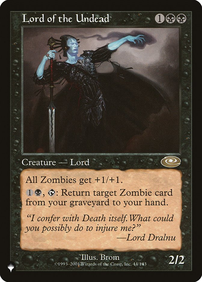 Lord of the Undead - The List