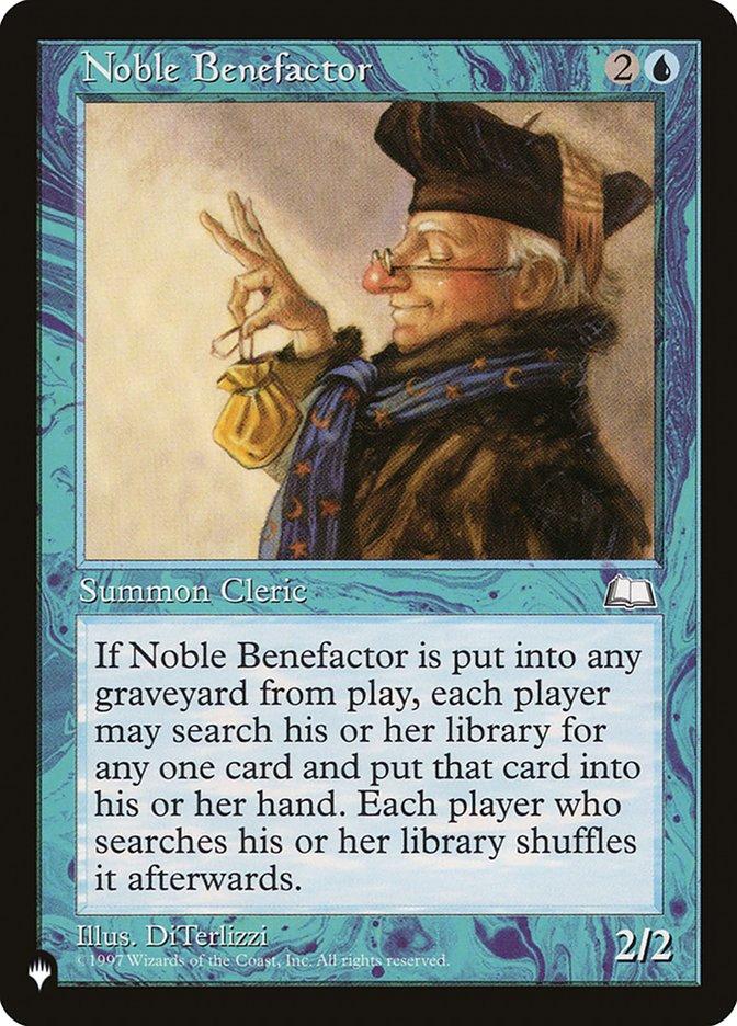 Noble Benefactor - The List