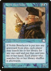 Noble Benefactor - The List