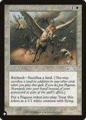 Pegasus Stampede - The List