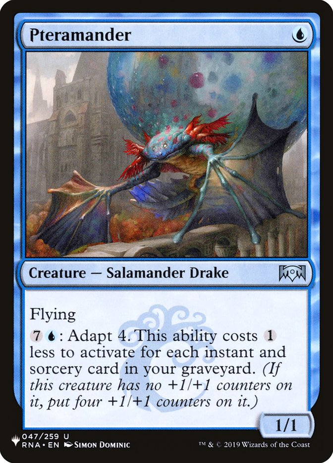 Pteramander - The List
