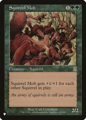 Squirrel Mob - The List