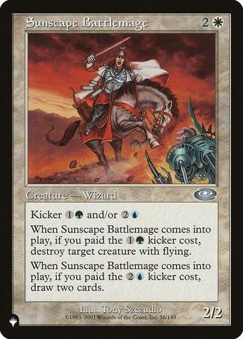 Sunscape Battlemage - The List