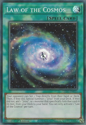 Law of the Cosmos - LED7-EN035 - Super Rare - 1st Edition