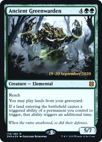 Ancient Greenwarden - Foil - Prerelease Promo