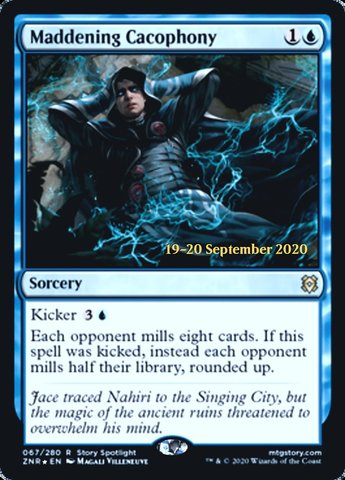 Maddening Cacophony - Foil - Prerelease Promo