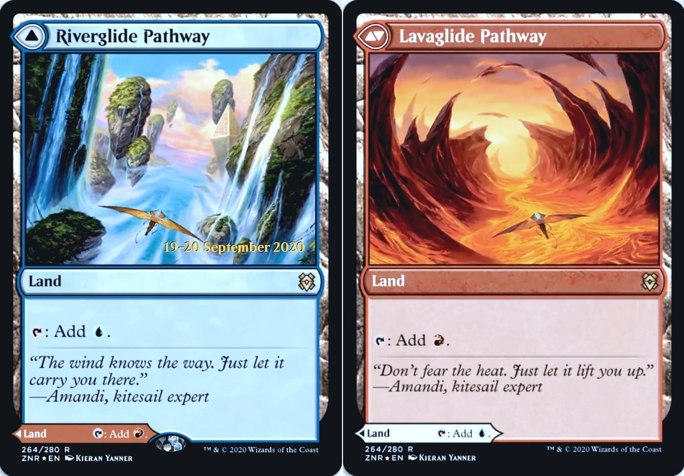 Riverglide Pathway // Lavaglide Pathway - Foil - Prerelease Promo