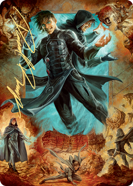 Jace, Mirror Mage 2 Art Card - Gold-Stamped Signature
