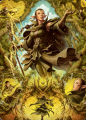 06 Nissa of Shadowed Boughs Art Card - Gold-Stamped Signature