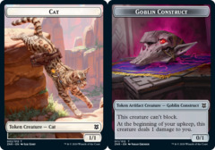 Cat Token // Goblin Construct Token - Foil