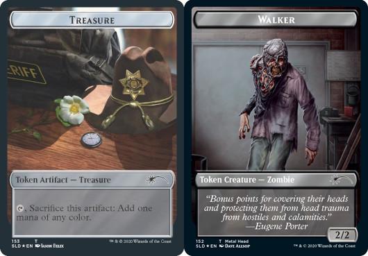 Treasure Token // Walker (Metal Head) Token - Foil