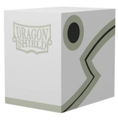 Dragon Shield Double Deck Shell White Black