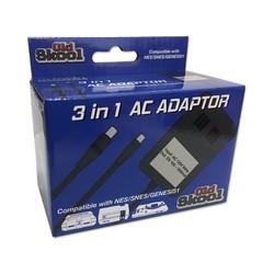 High Powered 3 In 1 AC Adapter - SNES / NES / Genesis 1