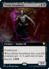 Elvish Dreadlord - Extended Art