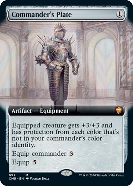 Commanders Plate - Foil - Extended Art