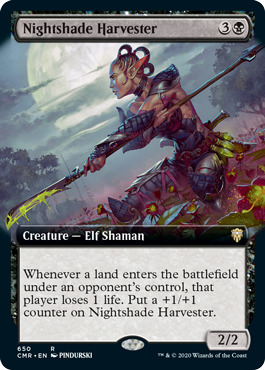 Nightshade Harvester - Foil - Extended Art