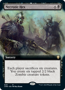 Necrotic Hex - Foil - Extended Art