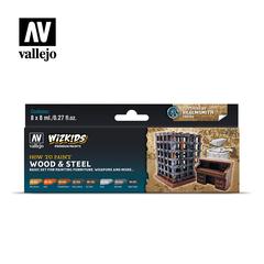 WizKids Paint Sets - Wood & Steel - VAL80256